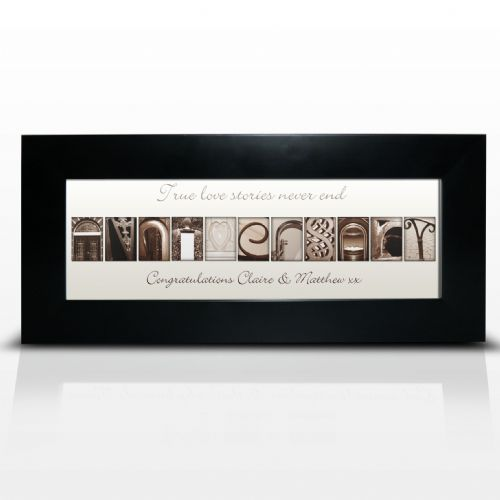 Personalised Affection Art Anniversary Small Frame